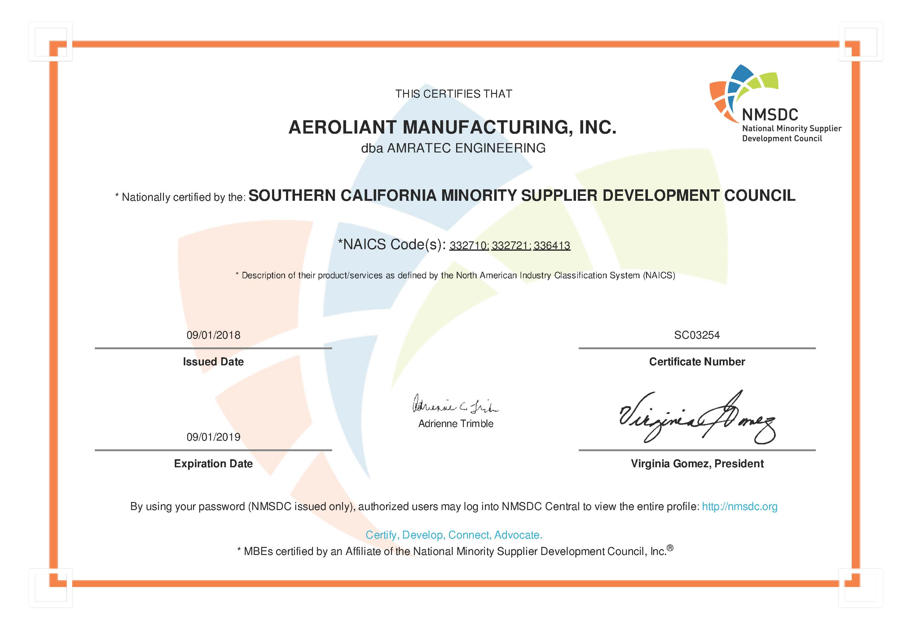 Aeroliant Manufacturing Inc-1