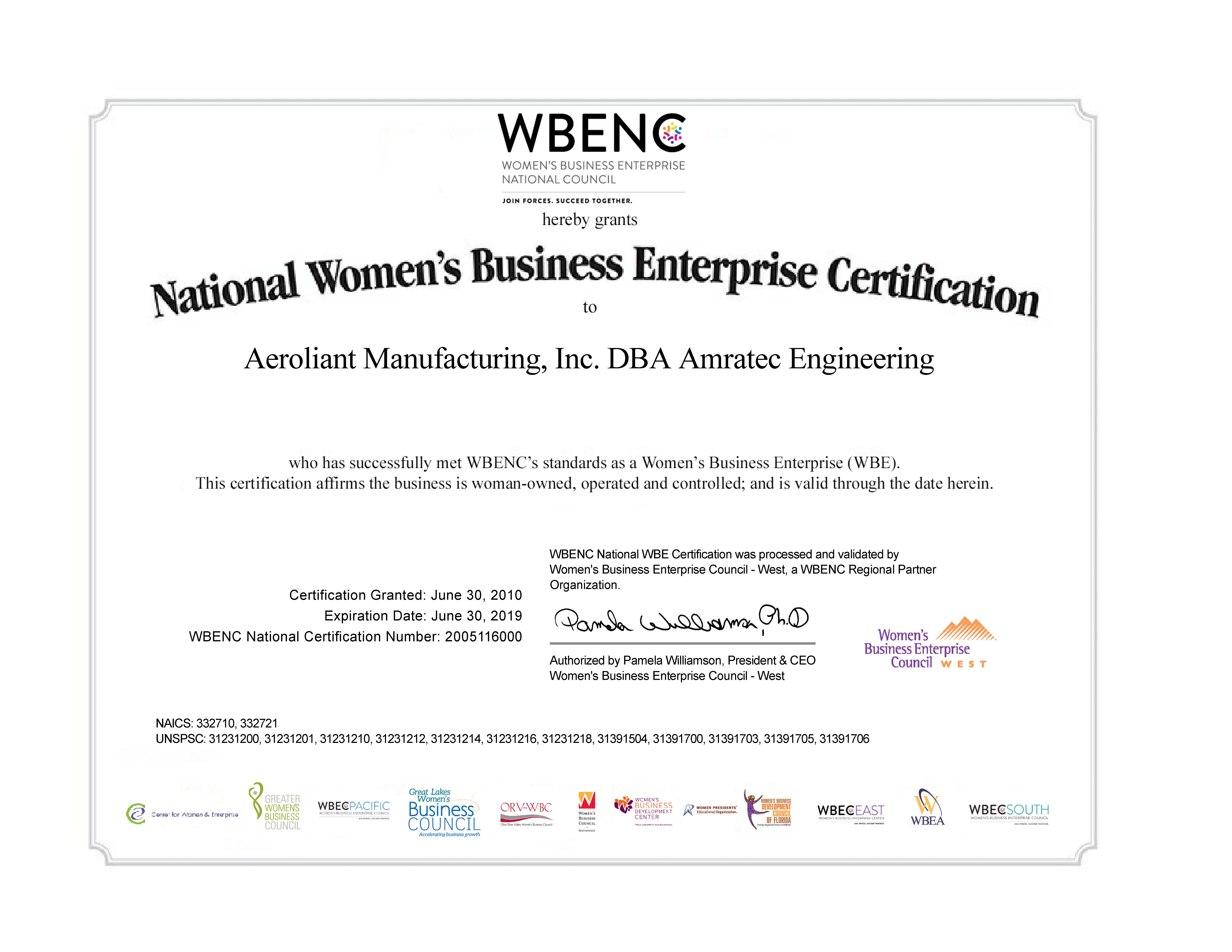 WOSB Certificate